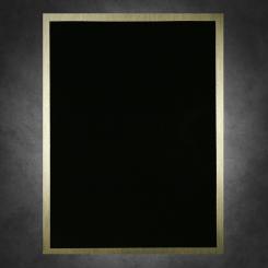 "Simplicity-Black on Gold 6"" x 8"""