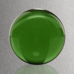 "Sphere - Green 1-1/4"" Dia. Image"