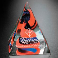 "Swirl Pyramid - Red/Blue 4"" Image"