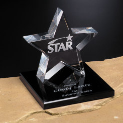 Tapered Star on Base 4""