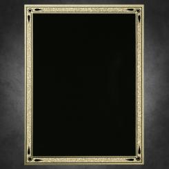 "Teardrop-Black on Gold 6"" x 8"""