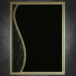 "Wave-Black on Gold 6"" x 8"""