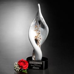 """White Swirl Award 15"""""""