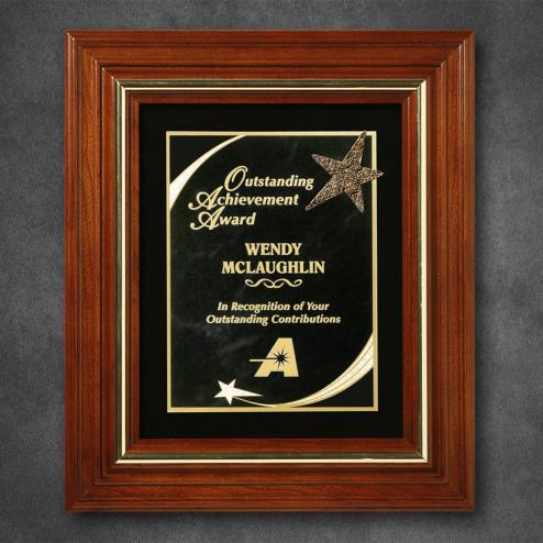 """Americana Plaque with Velour 13-1/2"""" x 11-1/2"""""""