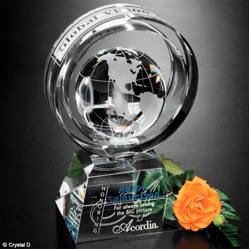 Awards In Motion® Global Ring 8""