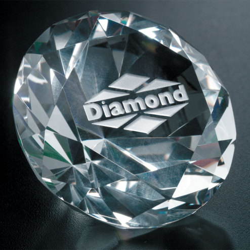 "Diamond Paperweight 3-1/4"" Dia."