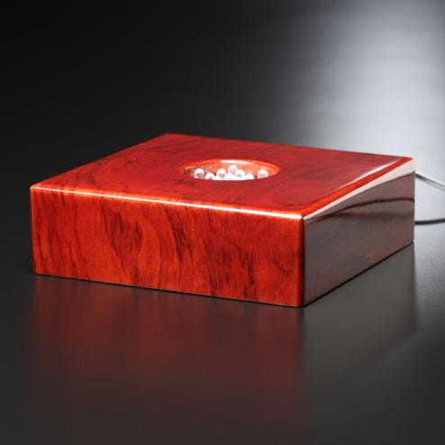 "Premium Rosewood Lighted Base 7"""