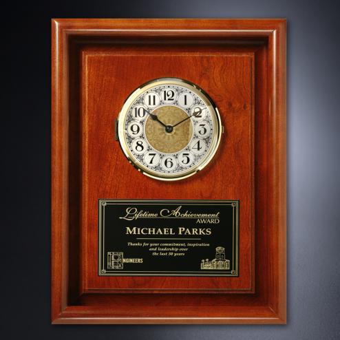"Americana Framed Wall Clock 10"" x 13"""
