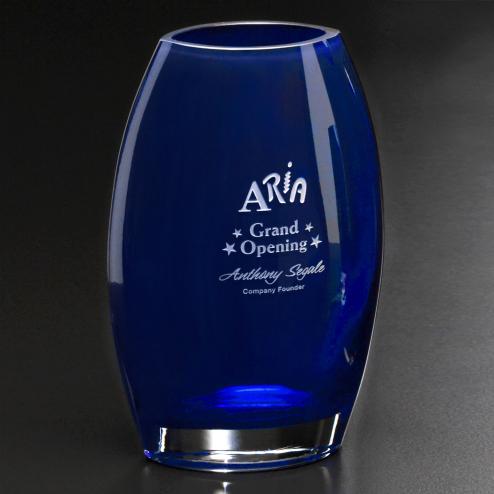 """Cobalt Oval Vase 12"""""""